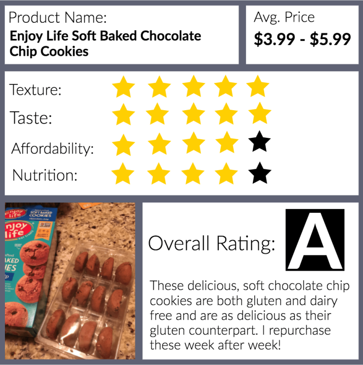 Review: Enjoy Life Soft Baked Chocolate Chip Cookies